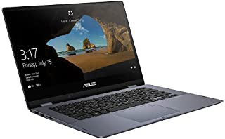 Asus VivoBook Flip (TP412FA-OS31T) Convertible Laptop- 14Inch Touch Intel Core i3-8145U, 4GB, 128GB SSD, 2.1GHz, Win10, En...
