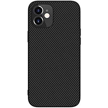 """Nillkin Case for Apple iPhone 12 Mini (5.4"""" Inch) Synthetic Aramid Carbon Fiber Tough Waterproof Light Weight Black Color"""