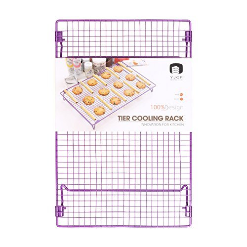 """Cooling Rack Grid Food Grade Non-Stick Steel 17x11"""" Multipurpose Wire Rack Sturdy Cookies Sheet for Faster Cooling Cookies Cake Bread Cooking Roasting Grilling with 4 Stable Legs with Cookies Recipe"""