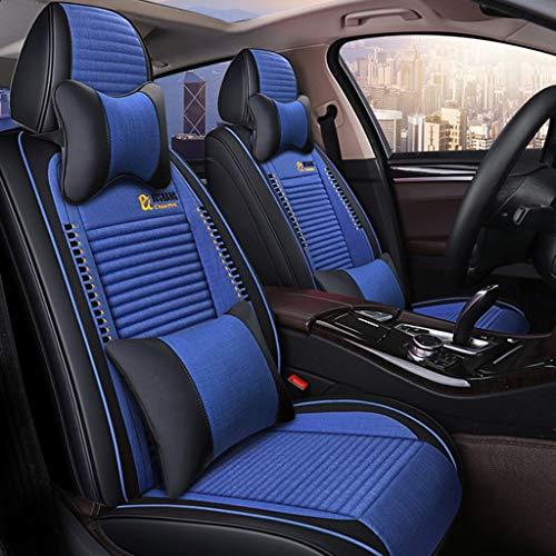 Waterdichte universele stoelhoezen, voor auto, kunstleer en linnen, voor autostoel, 9-delige set D