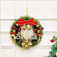 Zenghh ガーランド装飾新年の花輪レッドゴールドベルホリデーパーティーシミュレーション工場花ウィンドウのベッドルームホームホテルレストランクリスマスの装飾壁掛けドア (Color : C)