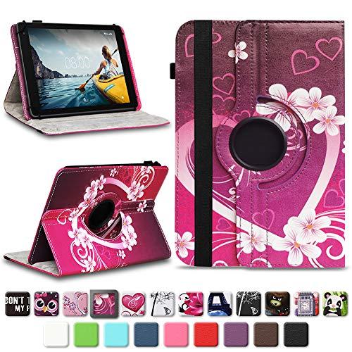 NAUC Medion Lifetab E10604 E10412 E10511 E10513 E10501 Tablet Tasche Hülle Schutzhülle Tablettasche mit Standfunktion 360° drehbar hochwertige Verarbeitung Universal Case Cover, Farben:Motiv 2