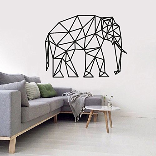 Tianpengyuanshuai geometrisch motief olifant muur kunst sticker dierdecoratie huis sterke lijn vinyl muursticker kunst