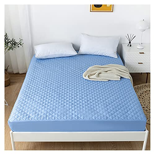 Ancoree Quilted Bedding Fitted Sheet, Solid Color Waterproof...