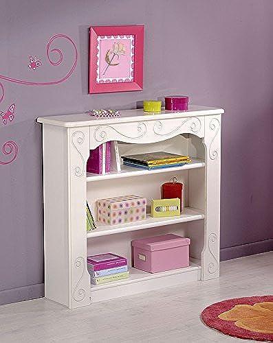 expendio Parisot Bücherregal Alice 14 Weiß lackiert 100x91x27cm Regal Bücherschrank Kinderzimmer