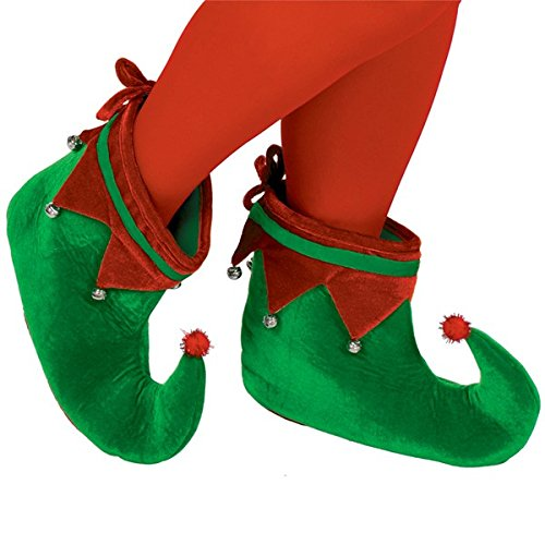 Forum Novelties Mens Adult Costume Elf Shoes Will Ferrell Grinch Shoes Red Green