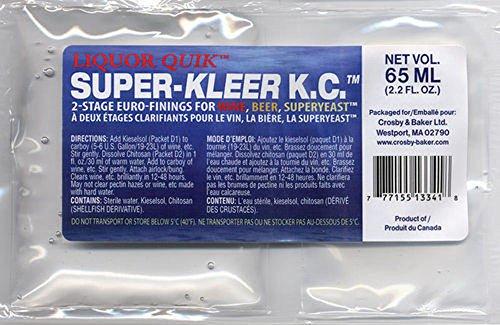 Liquor Quik Super-Kleer KC Finings - 4-Pack