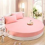 XGguo Protector de colchón - Protector de colchón antialérgico Sábana Redonda de Color Puro para Hotel Impermeable-Jade_2m