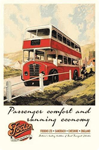 Generisch blikken bord 20x30 reclame affiche Engeland London bus nostalgie metalen bord