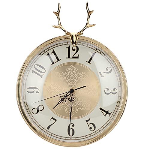 Dpofirs Elegante Reloj de Pared silencioso de Cobre, decoración para el hogar, Oficina, decoración de Pared para el hogar, Sala de Estar sobre Chimenea para Bar, Sala de Estar, Dormitorio, Comedor