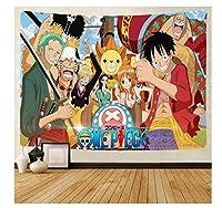 タペストリーワンピースアニメタペストリー壁掛けビーチタオルポリエステル毛布カーペット部屋の装飾子供のための漫画ギフト-(C)_200x150cm