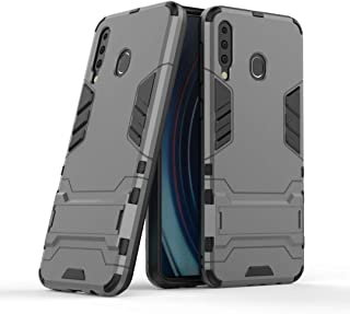 FanTing Case for LG W30 Pro, Rugged and shockproof,with mobile phone holder, Cover for LG W30 Pro-Gray