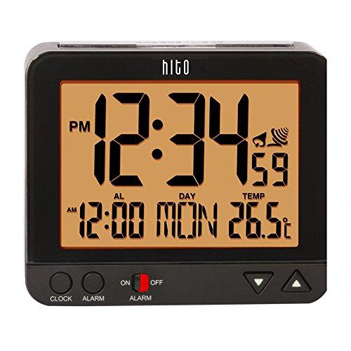 "hito 3.8"" Digital Battery Atomic Alarm Clock"