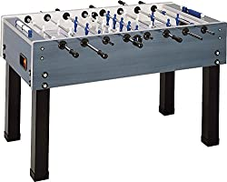 Garlando G-500 Weatherproof Indoor & Outdoor Foosball Table with Safety Telescopic Rods & Abacus Scorers. Includes 10 Standard Balls.
