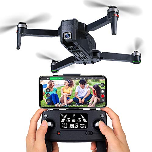 FANCOOL 4000ft FPV Drones with EIS Camera for Adults 4K&1080p, Professional 60 Min Long Flight Time-Long Range, Foldable Drone, 2 Speeds, 5G GPS WiFi Transmitter Drone- Lever 4 Wind Resistant