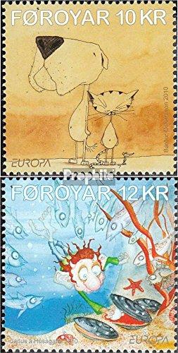 Danemark - Îles Féroé mer.-no.: 698-699 (complète.Edition.) 2010 €urope: Les Enfants Livres (Timbres pour Les collectionneurs) Bandes dessinées