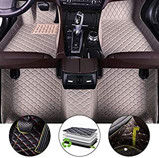 All Weather Floor Mat for 2013-2017 Hyundai Grand Santafe 7 Seats Full Protection Car Accessories Gray 3 Piece Set