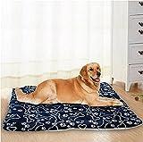 Shoplifemore Cama para perro Cama para perro Cama de felpa para coche, suave, autocalentante, antideslizante, lavable, manta suave y cálida para mascotas (XL (100 x 75 cm), azul marino)
