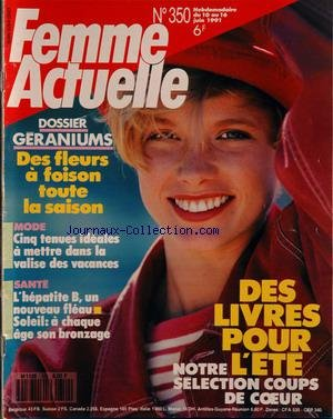 FEMME ACTUELLE [No 350] du 10/06/1991 - des livres pour...