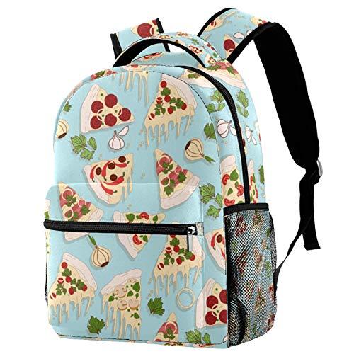 KEAKIA Schoolbag Bookbag Pizza Pattern Backpack for Teen Girls Boys School Bags Fits 14 Inch Laptop...