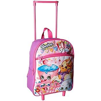 Shopkins Girls 12 Inch Rolling Backpack, Pink | Shopkin.Toys - Image 1