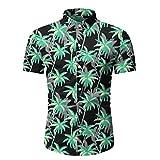 Camiseta de manga corta para hombre de primavera y verano para hombre Negro Negro ( XL
