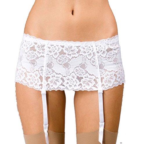 Silky - Ropa Interior Liguero para Mujer de Color Blanco de Talla M