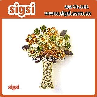 Harva Brooches - 100pcs Wholesale Pretty Metal Acrylic Bridal Bouquet Rhinestone Brooch pin for Wedding Invitation