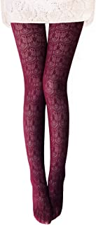 Vero Monte 1 Pair Women's Colorful Hollow Out Knitted Patterned Tights