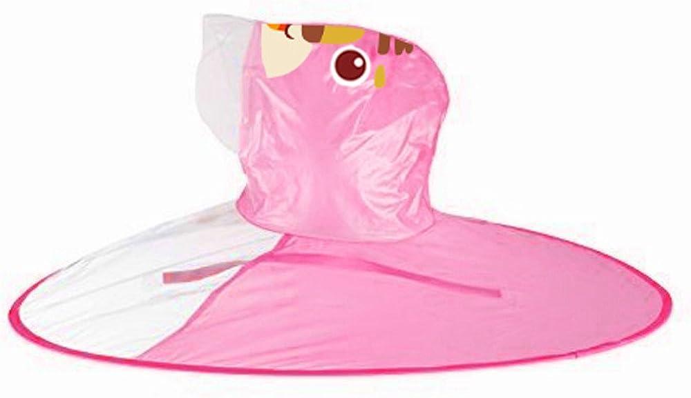 TOTOD Cute Yellow Rain Coat UFO Children Umbrella Hat Magical Hands Free Raincoat