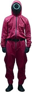 Lofeery Squid Game Cosplay kostuum soldier masker Squid Game Pak jumpsuit voor Halloween