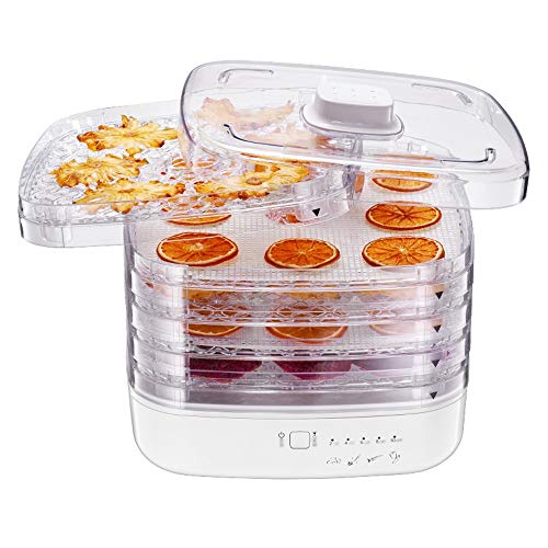 Purchase CMmin 5-Tray Food Dehydrator Machine,360° Cycle Heating,72 °C Constant Temperature Design...