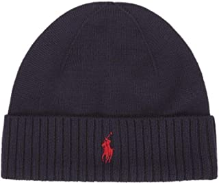 Ralph Lauren Polo Beanie Hat Wool Navy Blue