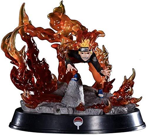 YUSHIJIA Regalos De Juguete Modelo De Personaje De la Figura Naruto Hecha a Mano Kyubi Uzumaki Naruto Figura Figura de Anime Figura de acción Estatua de PVC (Color : Default)