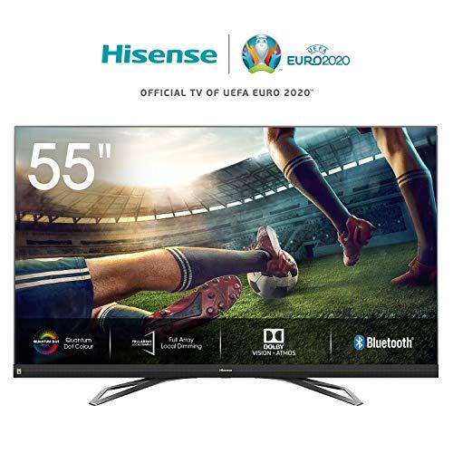 Hisense 55U8QF 139cm (55 Zoll) Fernseher (4K Ultra Premium HD, QuantumDot, HDR10+, Dolby Vision&Atmos, WCG, Full Array Local Dimming, 120Hz Panel, USB-Recording, JBL sound) [Modelljahr 2020]