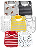 Simple Joys by Carter's Boys' 7-Pack Teething Bibs, Multi, One Size