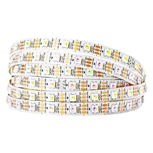 BTF-LIGHTING RGBW RGBWW Warmweiß SK6812 (ähnlich WS2812B) 5m 60leds/pixels/m Individuell adressierbar Flexibel 4 farbe in 1 LED Traumfarbe LED Streifen nicht-wasserdicht IP30 DC5V