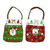2-Weihnachten Weihnachtsmann mit Sack, Motiv Candy Weihnachtsstrumpf-Füller-Geschenk-Taschen