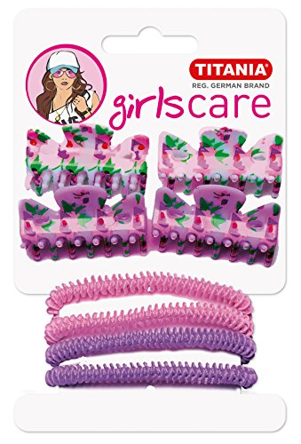 Titania cheveux clips/bandes de cheveux, rose/violet, 1er Pack (1 x 28 g)