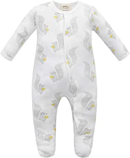 Owlivia Organic Cotton Baby Boy Girl Sleep 'N Play/Coverall, Long Sleeve (Size 0-18M)