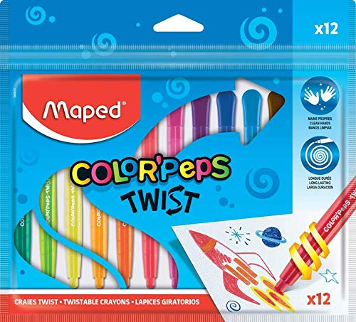 Maped Wachsmalstifte COLOR/'PEPS WAX 18er Kartonetui