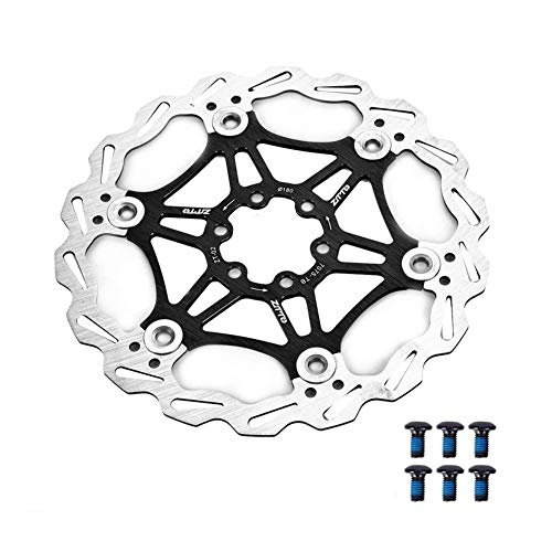 MEXITAL Rotore del Freno a Disco flottante, 160mm /180mm, 6 bulloni, MTB Road Bicycle Rotori Posteriori Bulloni Brake Pad Accessori per Biciclette