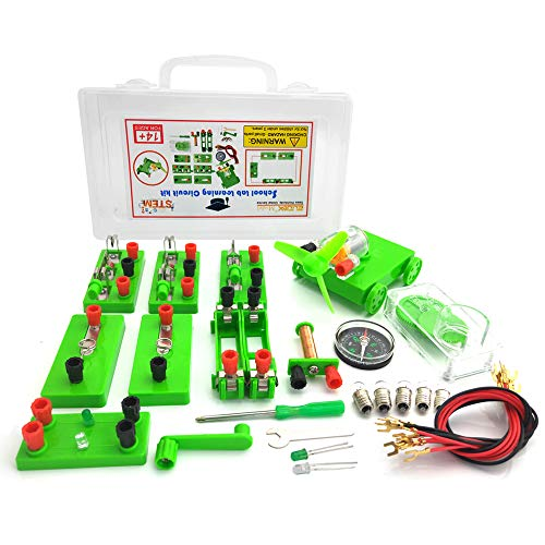 EUDAX Physics Science Lab Learning Circuit kit,Electricity Experiment Set,Building Circuits for Kids Junior Senior High School Students (Upgrade kit)