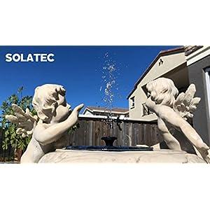 Solar Fountain, Solatec Solar Powered Bird Bath Fountain Pump 1.4W Solar Panel Kit Water Pump,Outdoor Watering Submersible Pump for Pond, Pool, Garden, Fish Tank, Aquarium