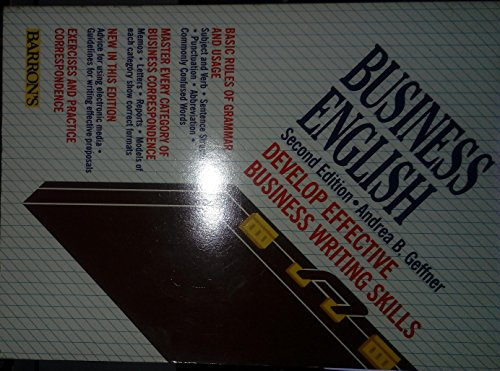 Business English: A Complete Guide to Developing an Effective Business Writing Style (Barron's Educational, Inc.)