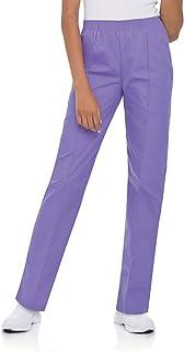 Landau Women's Comfortable 2-Pocket Classic Fit Medical Scrub Pant Uniform, Wisteria, Small Petite