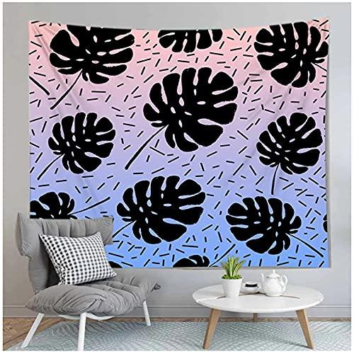 Tapiz by BD-Boombdl Tapiz de pared grande con estampado de hojas tapices bohemios colgantes decoración artística 59.05'x51.18'Inch(150x130 Cm)