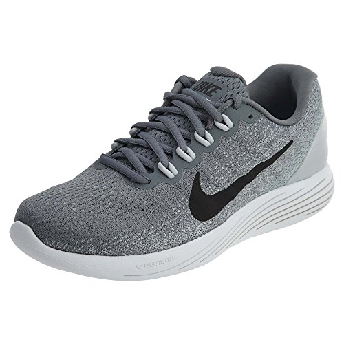 Nike Women's Lunarglide 9 Cool Grey/Black Pure Platinum Running Shoe 7