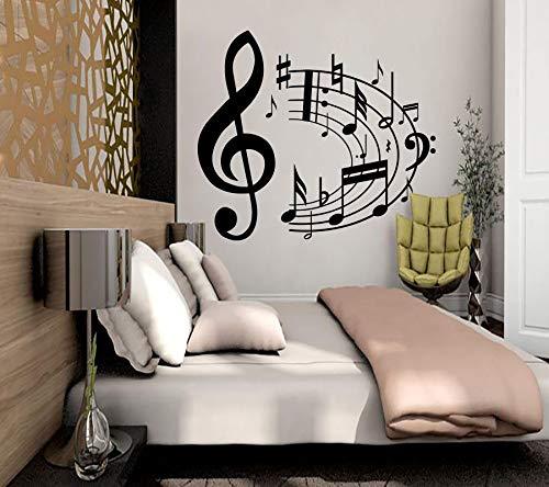 ganlanshu Fototapete Musik Keine acht Keine Zitternote Aufkleber Wohnkultur Schlafzimmer Dekorationen Vinyl abnehmbare 75cmx59cm