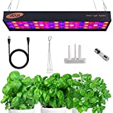 1000W LED Grow Light 4 x 5ft Daisy Chain Full Spectrum LED Growing Lights with Veg Bloom Switch Adjustable Rope 2 Cooling Fans for Hydroponics/Indoor Plants/Gardening (10W OSRAM LEDs,100PCS)
